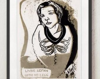 "A Spring SALE - ""Chicken Lady"" Original Print"