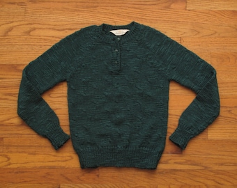 womens vintage emerald green sweater