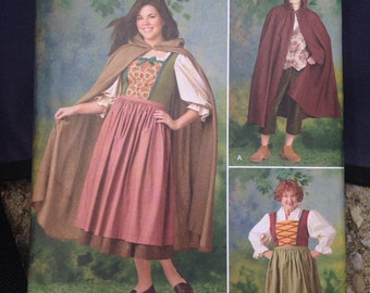 Simplicity 1771 A Sizes XS-XL Hobbit Granny Little Red Riding Hood Costume Cloak Cape Pattern