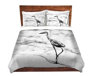 duvet set crane bird painting nature modern bedding queen size duvet cover king