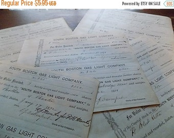 Antique Ephemera - Stock Investment Receipts - Altered Art - Collectible