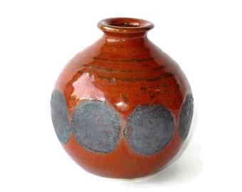 Bud vase, brown vase, handmade vase, hand thrown vase, pottery vase, Vases, Vessels, Pottery, Ceramics, Pots