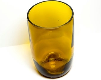 Gold Glass Wine Bottle Drinking Glass Pint Glass