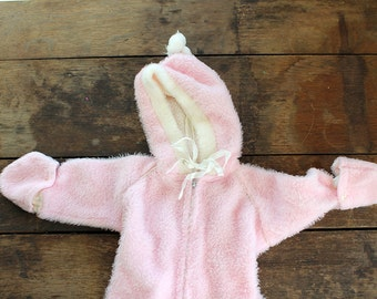 Pink Baby Snow Suit 1960s