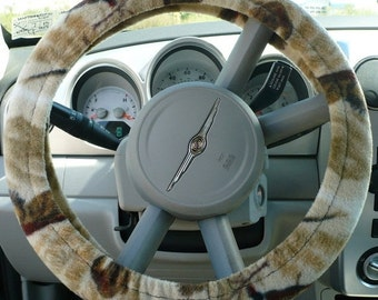 Save 10% Fleece - ( Warm ) -  Car  Steering Wheel Cover - ( Cars Only ) -  Pheasant