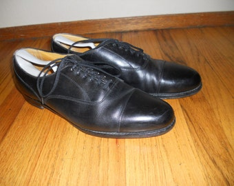 Cole Haan English Benchmade Cap Toe Oxfords Black Leather Size 13 C