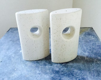 Mod Stoneware Salt and Pepper Shakers Pair Large
