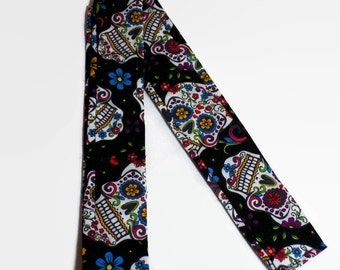 Neck cooler, cooling bandanna, cooling neck scarf, heat relief cool neck tie, cooling neck wrap, black skull cold tie, cool headbands