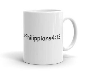 Christian Mug Philippians Christian Gift Inspirational Cup Religious Inspire Confirmation