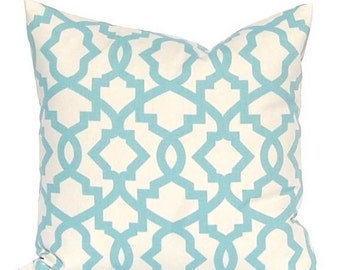 Sale Village Blue Pillow Covers, Village Blue Trellis, Decorative Pillow Covers, Blue Cushion Covers, Accent Pillows, Toss Pillow, Throw Pil