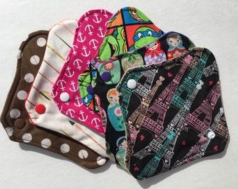 "Cloth Panty Liners 8"" Set of 3 Random Prints"