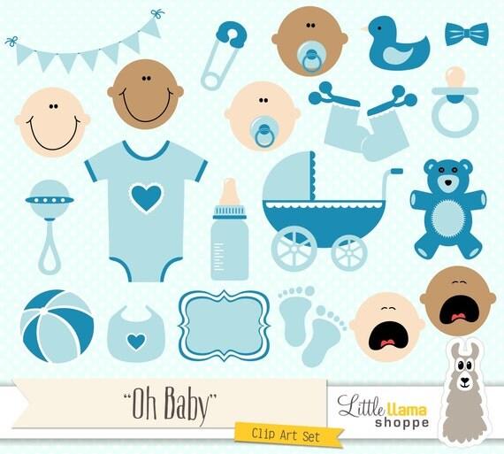 Baby Boy Toys Clip Art : Baby shower clipart blue clip art boy