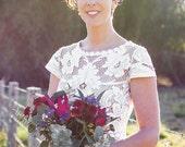 FREE SPIRIT vintage French lace wedding dress