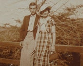 1930's French Photo - Couple in the Countryside