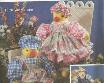 Simplicity 7512  Duck and Chick Pattern