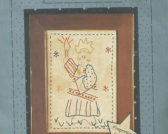 "The Stitch Connection ""Miss Liberty"" Primitive Stitchery Pattern"