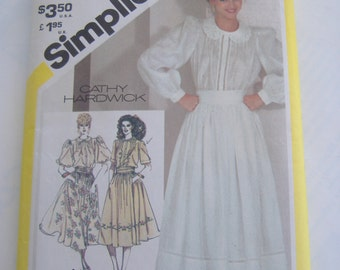 Simplicity 5360, Misses' Blouse and Full Skirt, Size 12, Bust 34, Uncut