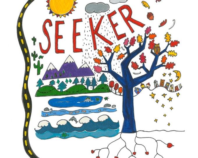SEEKER 12X12 Print