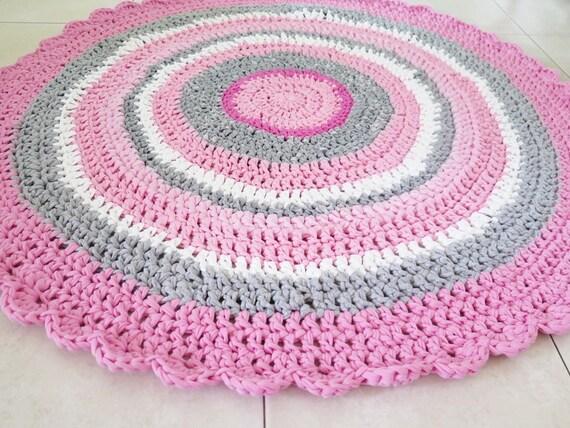 area rug crochet rug crochet rugs girl nursery rug by. Black Bedroom Furniture Sets. Home Design Ideas