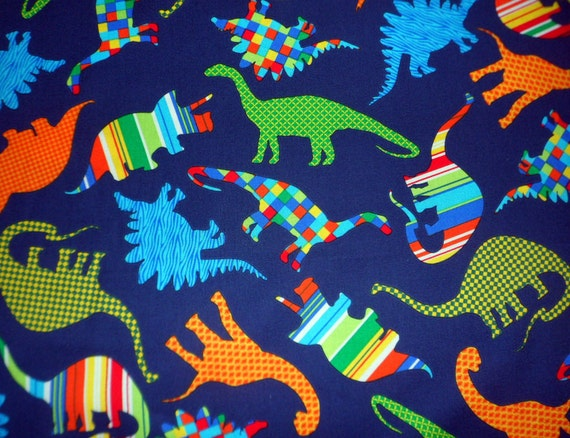 Dinosaur fabric boys fabric colorful dinosaurs sewing material for Boys cotton fabric