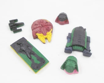 Star Wars Crayons, Recycled Crayons, Boy, Girls, Toys, Children, Hans Solo, Darth Vader, Storm Trooper, Tie Fighter, Millennium Falcon, RTD2