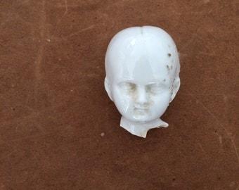 Antique Vintage German Porcelain Dolls Head Frozen Charlotte.