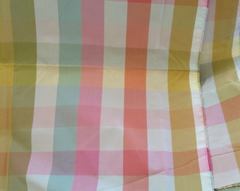 Silk Plaid fabric
