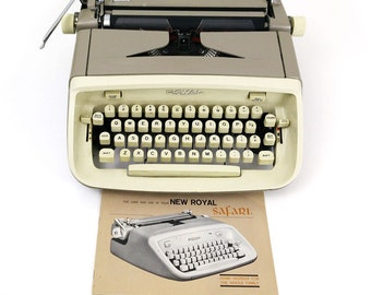 Vintage 1964 Royal Safari Portable Typewriter