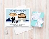 Winter Save the Dates, Winter Wedding Ideas, Winter Wonderland Wedding, Save the Dates, Wedding Cards, Wedding Magnets