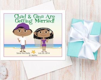 Beach Wedding Save the Dates — Available as a Card or a Magnet! Beach Wedding Ideas, Destination Wedding, Destination Save the Date