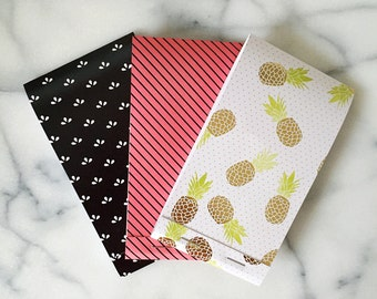 Retro Pineapple Notepads Set