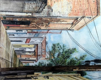 Pastel Drawing - Street Scene