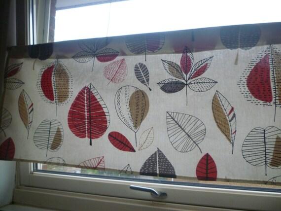 red grey brown kitchen curtain valance panel funky floral. Black Bedroom Furniture Sets. Home Design Ideas