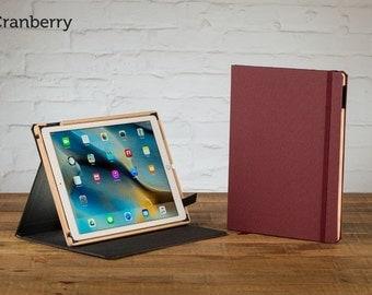 The Contega Linen Case for iPad Pro 12.9 - Cranberry