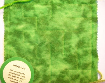 Marble Maze Game Green sensory therapy maze pattern  1  autism sensory occupational therapy