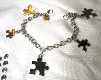 Puzzle Pieces Charm Bracelet