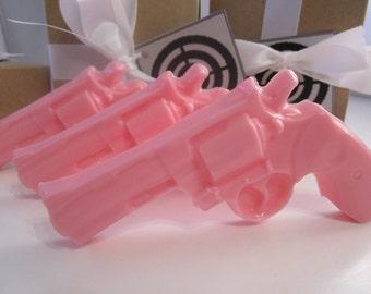 3 Gun Soap - gifts for her, stocking stuffer - pink pistol