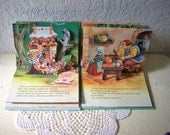 Two Small Classic Fairy Tale Pop-Up Books Illustrated by John Patience. Jack and the Beanstalk and Hansel and Gretel