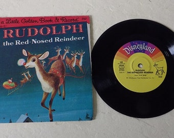 A Little Golden Book and Record: Rudolph the Red Nosed Reindeer, 1976