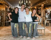Personalized Wedding Party Ladies' Yoga Style Sweatpants - SALE! 15% off with code SALE15 -  Gift Bachelorette