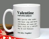 Personalised Valentine Definition Mug