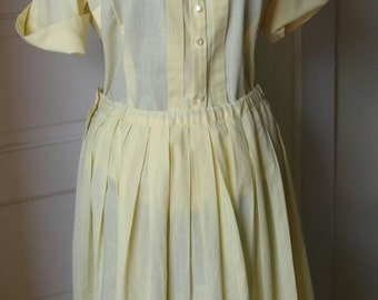 Vintage 50s Suburban Set Pastel Yellow Dress Set