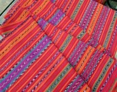 Guatemalan Fabric in Solola Red