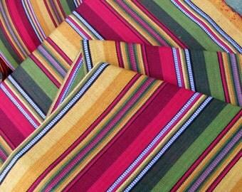 Guatemalan Fabric in Jewel Tone Stripes