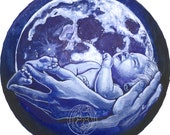 "Sticker - ""Lunar Embrace"" Mandala"