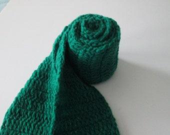 Emerald green cashmere scarf