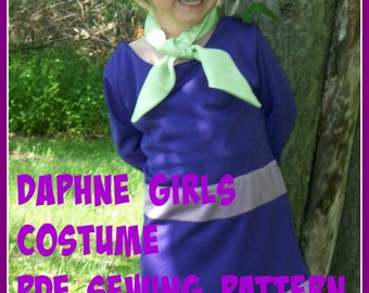 Child's Daphne Costume Sewing Pattern, Costume Tutorial, DIY Kids Costume pattern, Scooby Doo Costume Patterns, Family Costume Ideas