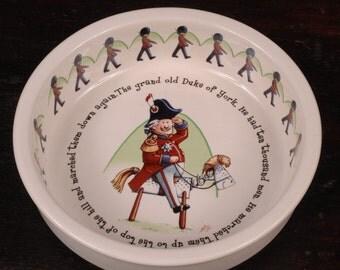 Anderton Pottery, Childrens Porridge Bowl, The Grand Old Duke of York, England