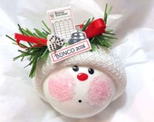 BUNCO ORNAMENT CHRISTMAS Townsend Custom Gifts Dice Die Bell Score Card 2016 Sample