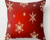 Winter Snowflake PILLOW - Christmas pillow, Xmas Home Decor, Pick Your Size, Seasonal, Winter